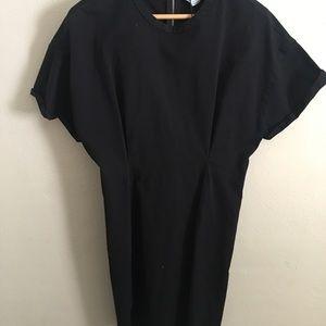 ZARA Black wide sleeve fitted dress NWT